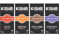 The new package design for Kishr, which will be rolling out this year.