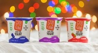 Good Karma dairy-free yogurts are available in blueberry, strawberry, vanilla, plain and raspberry flavors