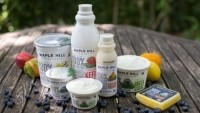 New York state-based Maple Hill makes yogurt, kefir, drinking yogurt and cheese from 100% grass-fed organic milk