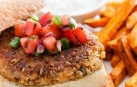 Greenwheat freekeh works particularly well in savory meat-free products such as veggie burgers