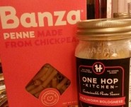 Taste Test Friday: Banza chickpea pasta with One Hop Kitchen Bolognese