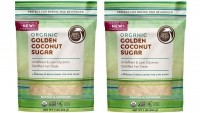 The new golden coconut sugar is expected to retail in May for $5.99 per one-pound bag at natural food stores nationwide.