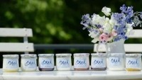 Oui by Yoplait comes in eight flavors: Strawberry, Blueberry, Black Cherry, Vanilla, Coconut, Lemon, Peach and Plain