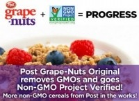 Post unveils non-GMO verified Grape Nuts as Gen Mills says goodbye to GMOs in Original Cheerios