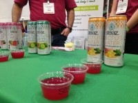 Steaz showcased its new cactus waters at the Healthy & Natural show in May (ingredients: prickly pear concentrate, cane sugar, lemon juice, natural flavors, green tea, stevia).
