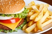 How much fast food do children eat?